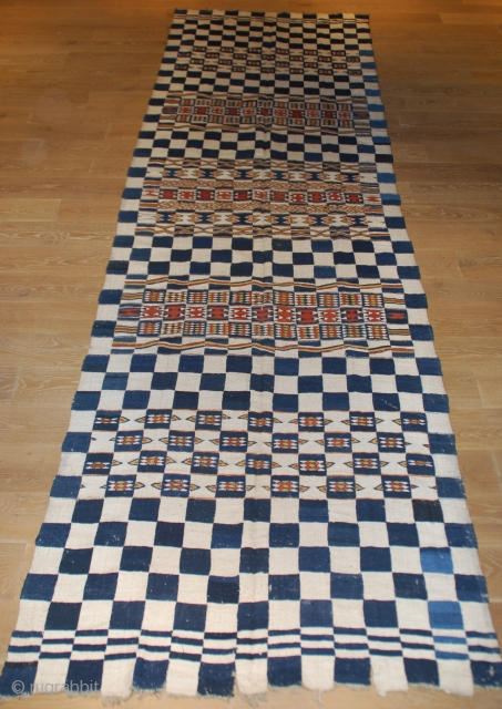 Old african Fulani blanket ,20th century , 454cmX136cm , good conditions