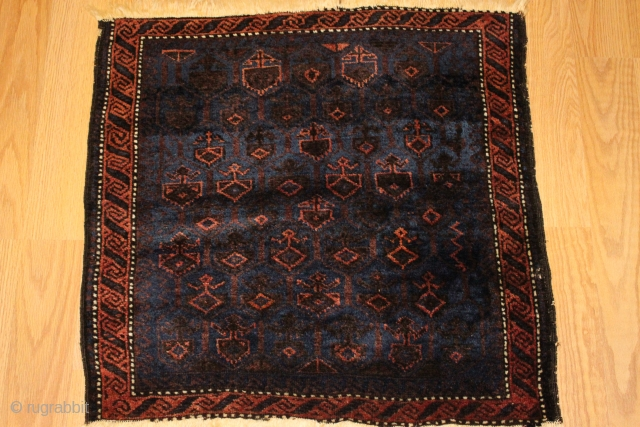 Baluch Bagface 19th century Natural colors finely woven rare model  
