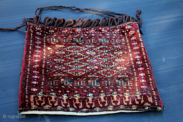 Turkmen Bagface good condition size 0.52cm x 0.47cm