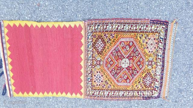 Sublime Silk wefted Quashgai bagface.Ca. 1860  The Holy Grail of Quashgai collectors