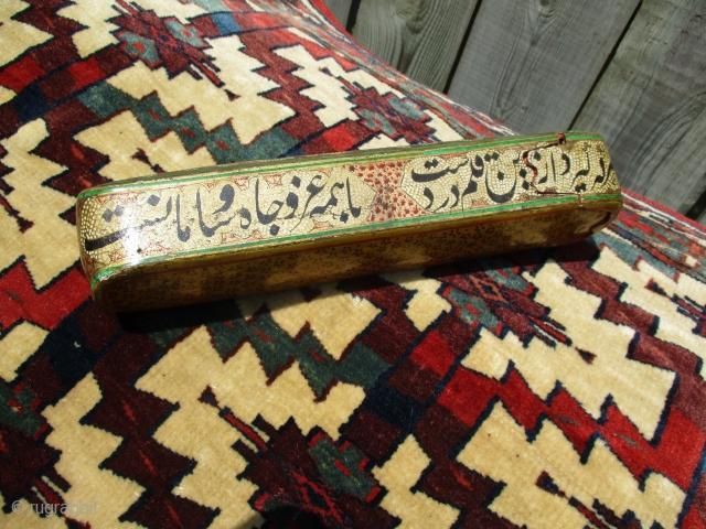 Qajar period (ca.1830-40) papier-mache lacquered Qalamdan