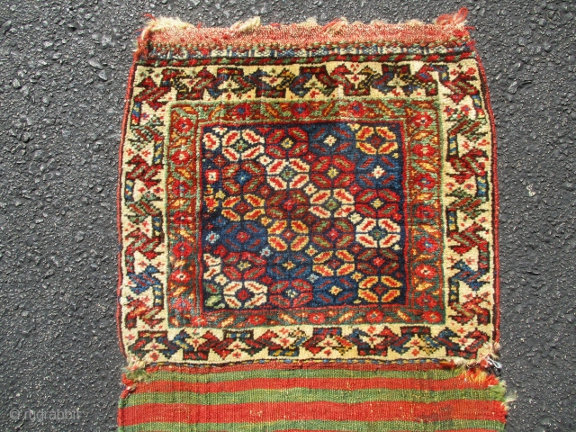 Quashgai bagface, early, fabulous wool and 12 great colours used,soft silky handle,