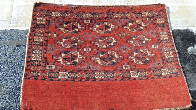 Early Yomud Chuval, ca.1820, full pile, fabulous velvety wool, handles like a velvet panel