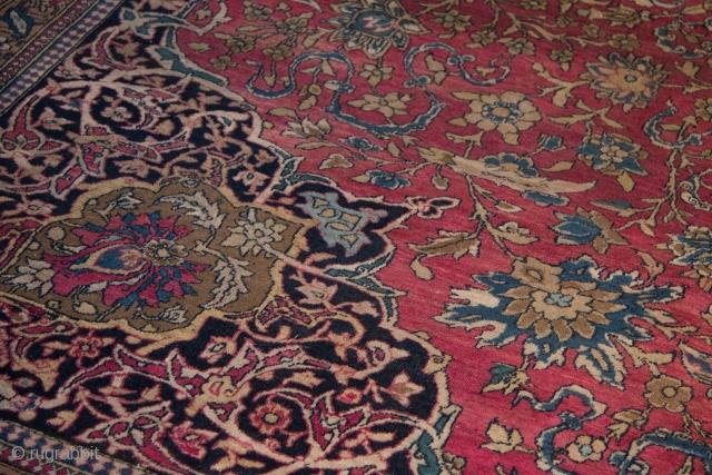"""Isfahan , 10'6"""" x14'6"""" , Gorgeous, medium all over pile."""