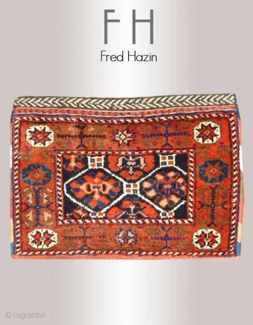 Stock #A117 | Afshar Bag | Circa: 1910 | Size: 1 x 1.7