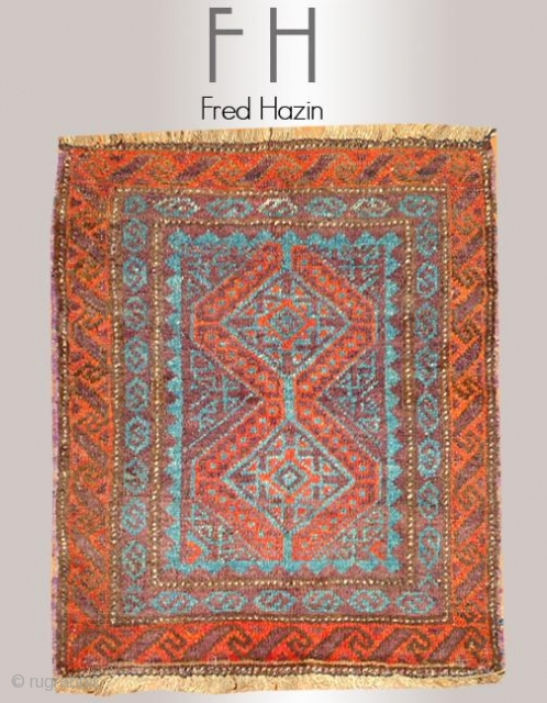 Stock #A121 | Baluch | Afghan | Circa: 1900\'s | Size: 2.2 x 2.8