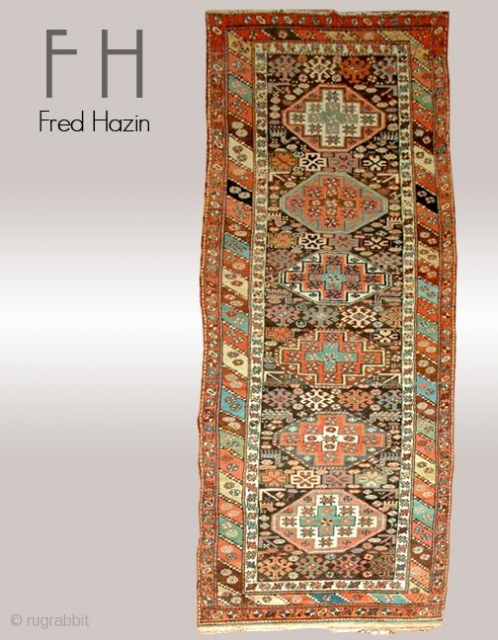 Stock #A143 | Kurdish | Circa: 1890 | Size: 3.11 x 12.1