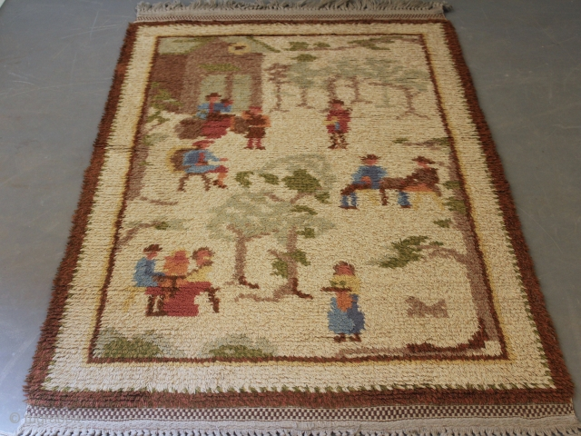 Handmade Swedish Rya Matta