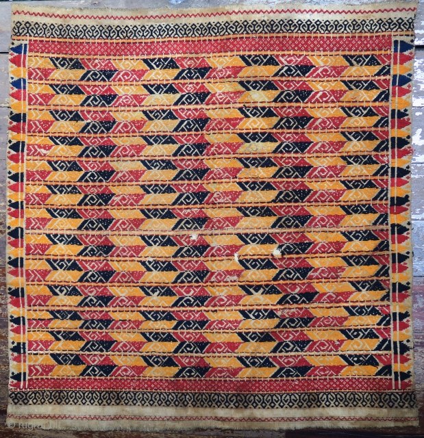 Indonesia | Antique ceremonial weaving tampan