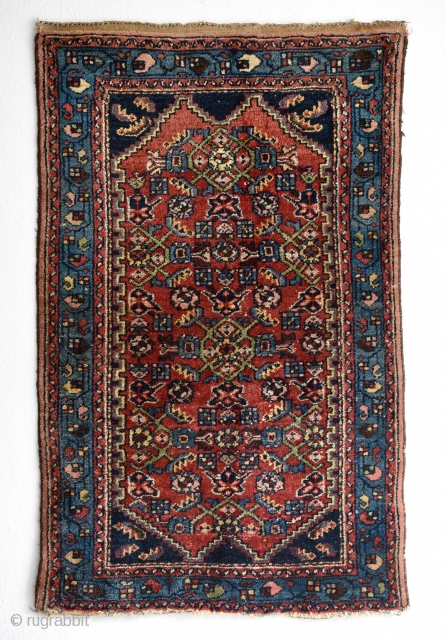 Possibly Persian Hamadan. Circa early 20th century. All natural colors. 117cm x 74cm
