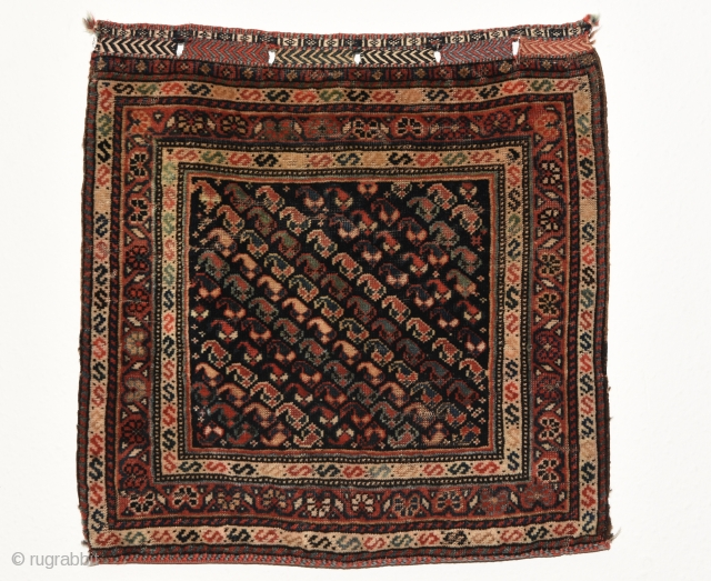 Early 20th century South Persian Khamseh bag face. All natural colors with superb wool. 56cm x 55cm