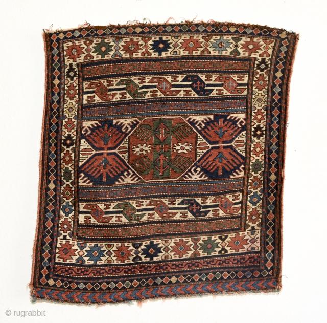 Late 19th century Shahsavan soumak bag face. In good condition, no repairs.  Measures 67cm x 61cm