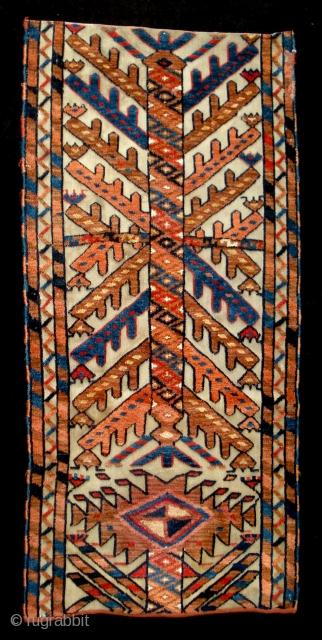 antique colourful tentbandfragment  Jomud?   93x43 cm