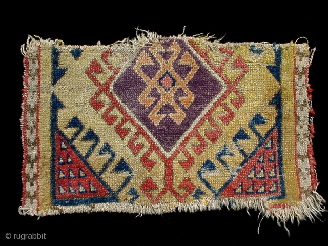Fragment Konya area 18th cent with wonderful aubergine  76 x 45 cm
