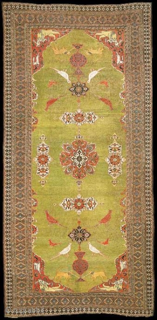 Khorasan Carpet, Size: 7.7 x 17.0 ,