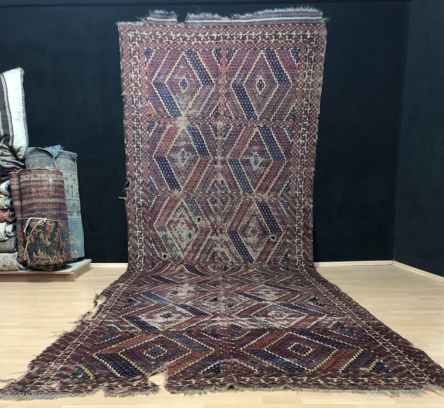 Antique Ersari Rug Size 167x466 cm / 5'5'' x 15'3''