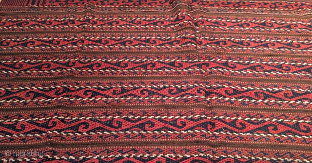 Antique Central Asian Uzbek Ghudgeri kilim 158 x 115 cm