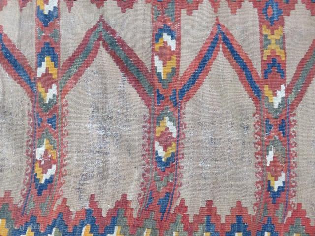 Uzbekistan 19th Century Camel Hair Saf Kilim Size 224x112 cm