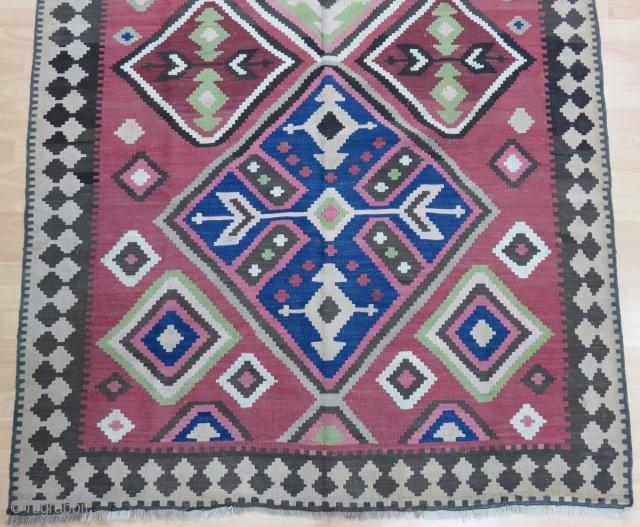 Caucasian Karabagh Kilim Size 158x300 cm / 5'2''x9'9''