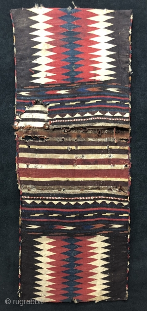 Antique Caucasian Zakatala Saddle Bag (Heybe) Size 53x134 cm / 1'8'' x 4'4''