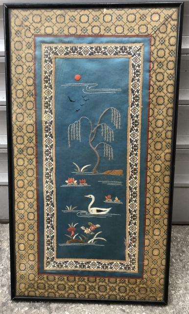 Antiq Chinese Textile Size 28 x 58 cm