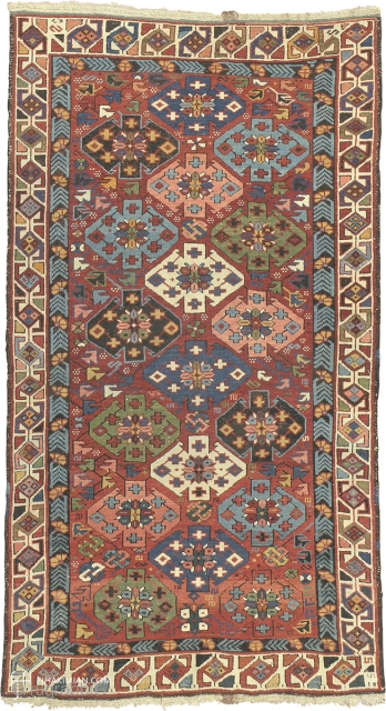 "Antique Kuba Rug Caucasian ca.1860 5'5"" x 3'0"" (165 x 92 cm) FJ Hakimian Reference #11016"