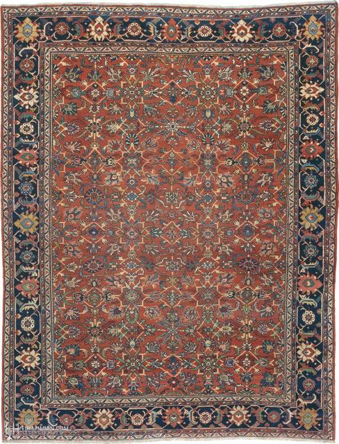 "Antique Persian Mahal Rug Persia ca.1920 11'11"" x 9'3"" (364 x 282 cm) FJ Hakimian Reference #06146"