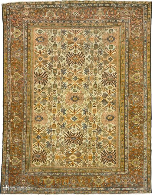 "Antique Persian Mahal Rug Persia ca.1890 11'11"" x 8'11"" (364 x 272 cm) FJ Hakimian Reference #06193"