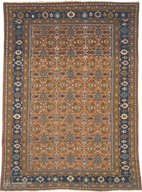 "Antique Persian Mahal Rug Persia ca.1920 13'11"" x 9'11"" (425 x 303 cm) FJ Hakimian Reference #06124"
