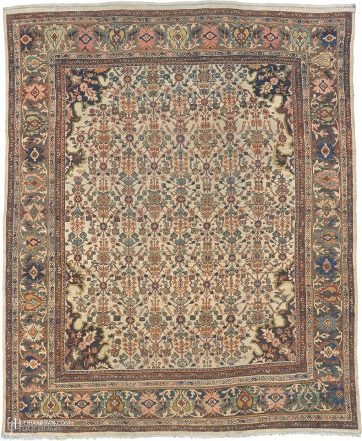 """Antique Persian Sultanabad Rug Persia ca.1900 14'0"""" x 11'3"""" (427 x 343 cm) FJ Hakimian Reference #06148"""