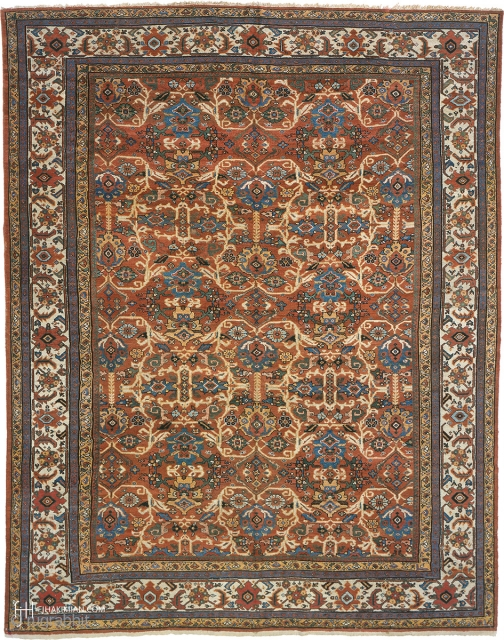 """Antique Persian Sultanabad Rug Persia ca.1910 13'11"""" x 10'9"""" (425 x 328 cm) FJ Hakimian Reference #06161"""