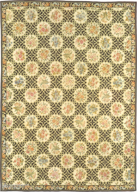 """Antique French Aubusson Rug France ca. 1920 17'10"""" x 12'9"""" (544 x 389 cm) FJ Hakimian Reference #02645"""