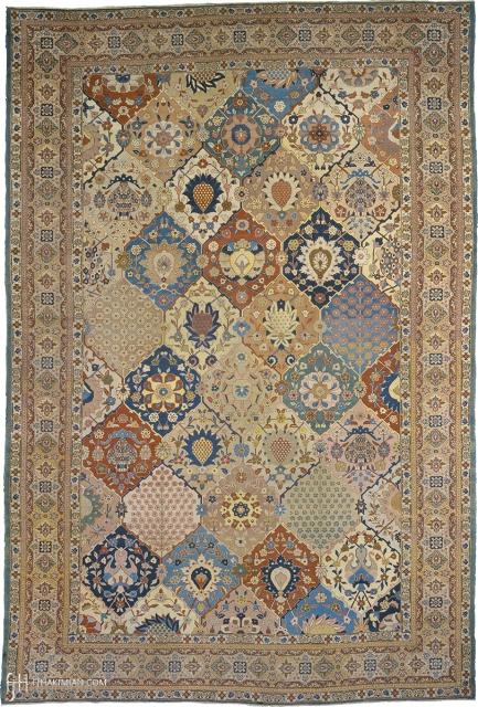 "Antique Persian Tabriz Rug Persia ca. 1900 18'0"" x 12'0"" (549 x 366 cm) FJ Hakimian Reference #07082"