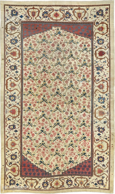 "Antique Persian Bakh-Shaiesh Carpet P 18'9"" x 11'3"" (572 x 343 cm) FJ Hakimian Reference #05068"