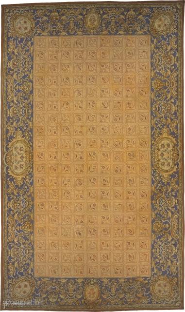 "Antique English Needlepoint Rug England ca. 1890 20'7"" x 11'11"" (628 x 364 cm) FJ Hakimian Reference #02500"