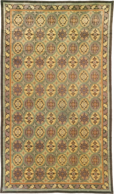 """Antique French Savonnerie Rug France ca.1910 24'0"""" x 13'9"""" (732 x 420 cm) FJ Hakimian Reference #03021"""