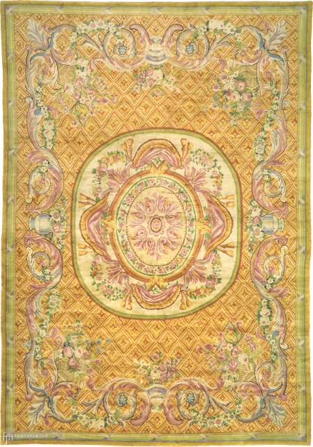 """Antique French Savonnerie Rug France ca. 19th Century 22'5"""" x 15'7"""" (684 x 476 cm) FJ Hakimian Reference #03309"""