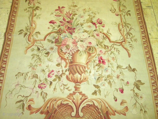 Awesome 19Th Century Aubusson Tapestry .