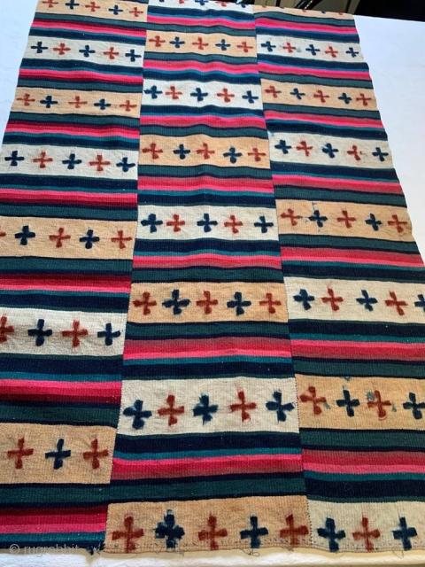 Tibetan blanket, phulo tigma pattern first part 20th century 67 cm x 127 cm
