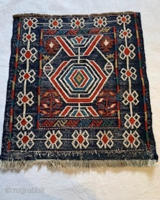 Antique Veramin kilim bagface 41 cm x 38 cm Persia late 19th century all natural dyes