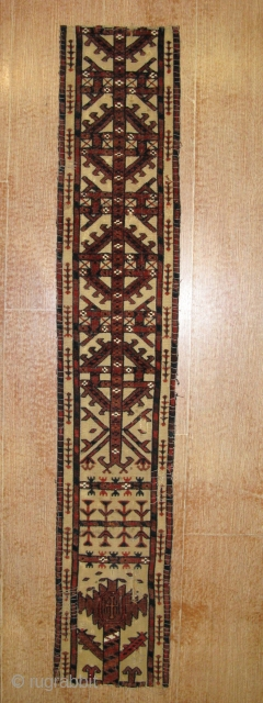 4388-Turkmen band very old piece size 144x26