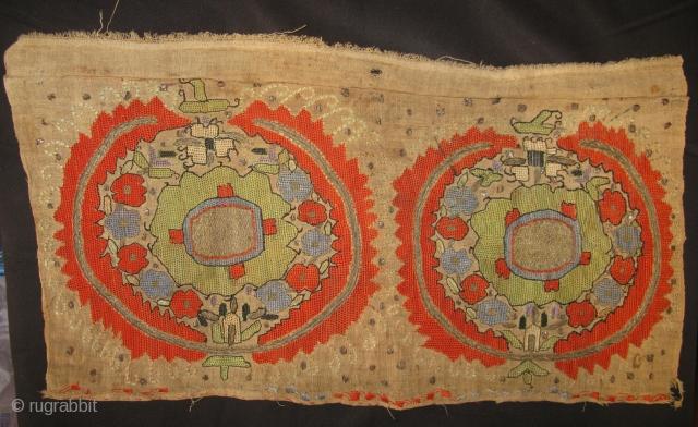 4390-Ottoman textile frag 47x25