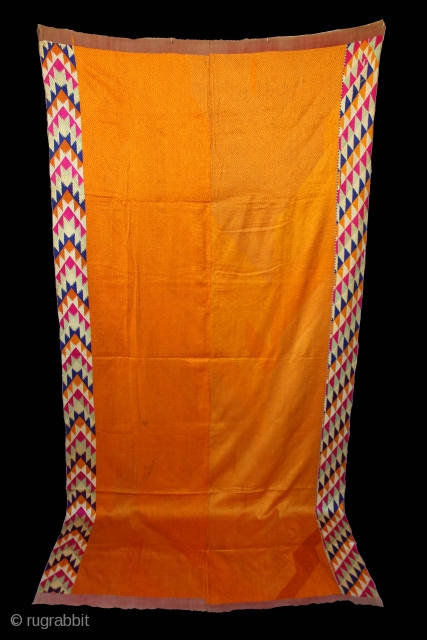 Vari-Da-Bagh from West (Pakistan) Punjab India Called As Vari-Da-Bagh Lahariya Design Border with Beautiful Colour combination.This bagh was gifted to the bride by her in-laws when she was entering their house, her  ...