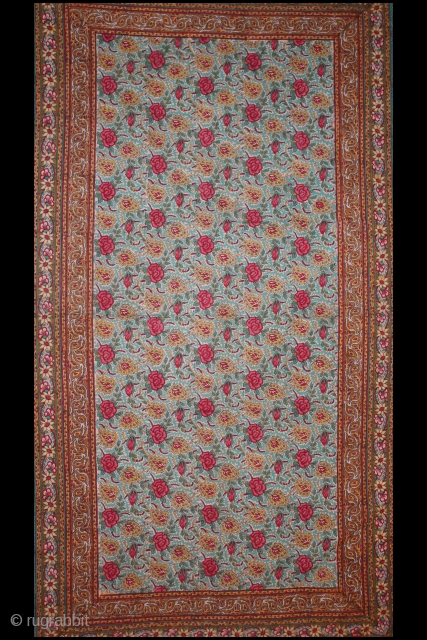 Woodblock-Printed(Cotton) From Rajasthan India.All natural dyes.Very rare Piece. Its size is 150x218cm.(DSC00890).