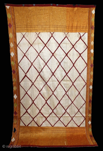 Phulkari from West(Pakistan)Punjab India Called As Rare Chand Bagh.Rare Design.Extremely Fine Phulkari.(DSE02290).