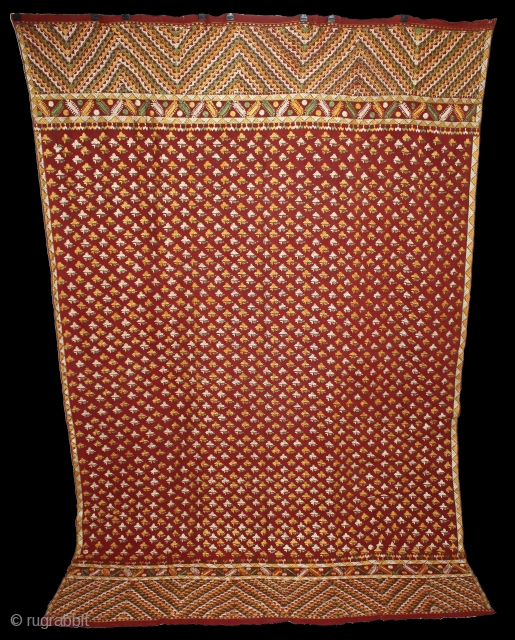 Phulkari From West(Pakistan)Punjab India Called As Flower Buti phulkari.Rare Design.Extremely Fine Phulkari.(DSE02540)