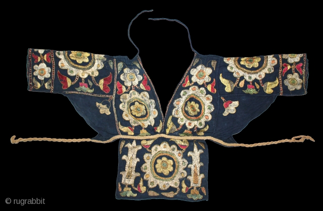 Women Blouse Backless(Choli) from Himachal Pradesh,Chamba India.C.1900.(DSL02110).