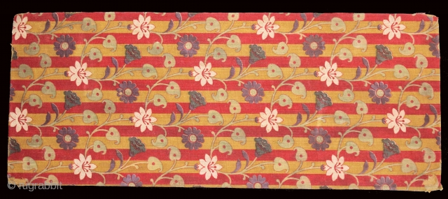 Jain Book Cover(Cotton)Roller Print Manchester,From Rajasthan India.Its size is 13cmX32cm.(DSC01540).