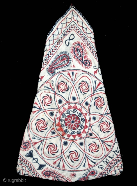 Kantha Bujki(Pouche) Quilted Embroidery with cotton thread Kantha Probably From Faridpur District,East Bengal(Bangladesh)region.India.C.1900.(DSL04040).