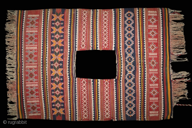 Camel Decoration Flatwoven Textile from Thar Desert Region near Jaisalmer Rajesthan India or Sind Area Pakistan.It was used festive such as weddings Occasions .Its size is W-86cm x L-140cm.(DSL02700).
